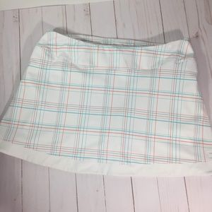 Champion Tennis Skirt White and Blue Size Small
